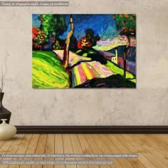 Πίνακας ζωγραφικής, Autumn landscape, Kandisky W., αντίγραφο σε καμβά