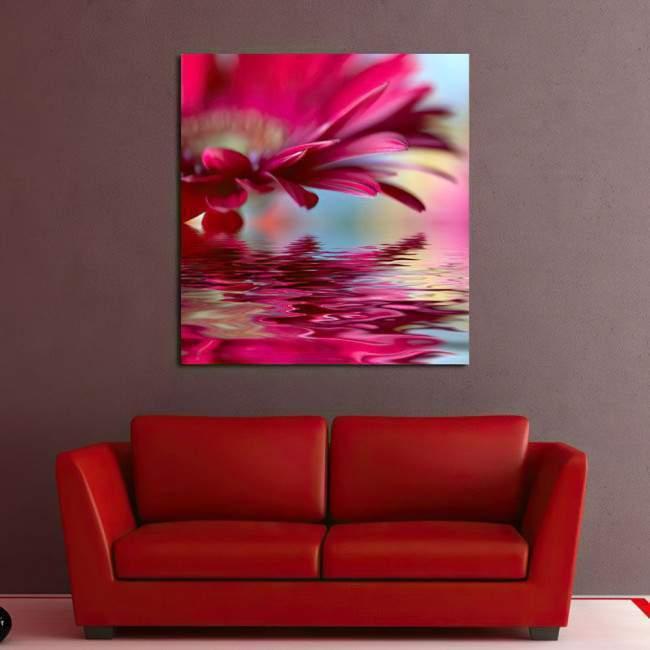 Flower reflections (red), πίνακας σε καμβά
