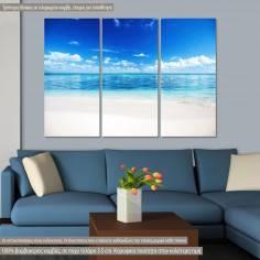Πίνακας σε καμβά, To the sea, τρίπτυχος