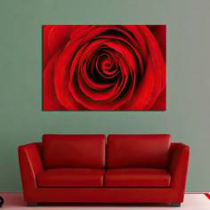Πίνακας σε καμβά, Τριαντάφυλλο, Heart of red rose