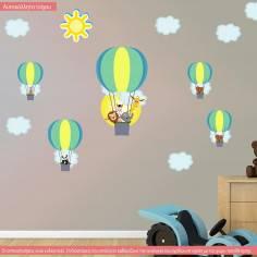 Αυτοκόλλητα τοίχου παιδικά, Αερόστατα παντού