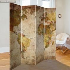 Παραβάν, Παγκόσμιος χάρτης vintage
