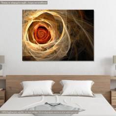 Πίνακας σε καμβά, Τριαντάφυλλο, Fractal rose