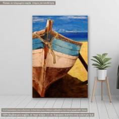 Πίνακας σε καμβά, Old boat painting