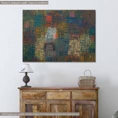 Πίνακας ζωγραφικής, Colors from a distance, Klee Paul, cropped αντίγραφο σε καμβά