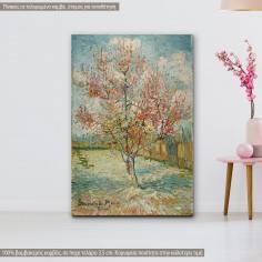 Πίνακας ζωγραφικής, Pink peach trees, Van Gogh V , αντίγραφο σε καμβά