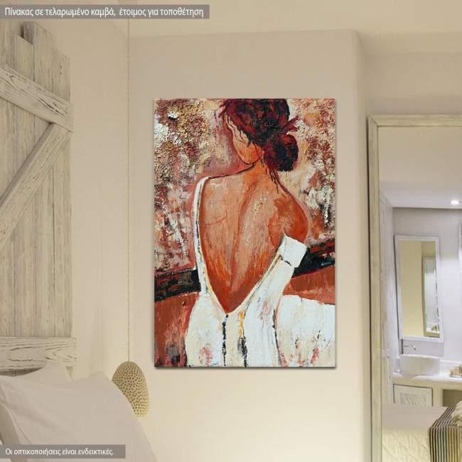 Πίνακας σε καμβά, Red head II