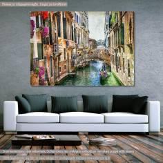 Πίνακας σε καμβά, Βενετία, Romantic Venice vintage