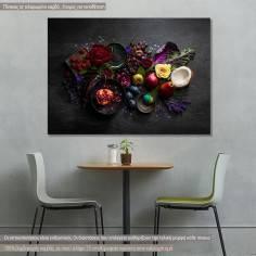 Πίνακας σε καμβά, Φρούτα και λαχανικά
