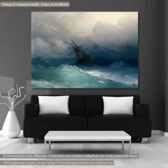 Πίνακας ζωγραφικής, Ship on stormy seas, Aivazovsky K, αντίγραφο σε καμβά