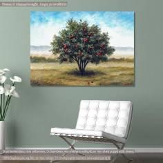 Πίνακας ζωγραφικής, Ροδιά, αντίγραφο σε καμβά