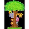 Κρυφτούλι με το δέντρο, Αυτοκόλλητο τοίχου