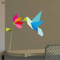Αυτοκόλλητο τοίχου, Origami scene