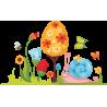 Πασχαλινή φύση , αυτοκόλλητο τοίχου Πασχαλινό