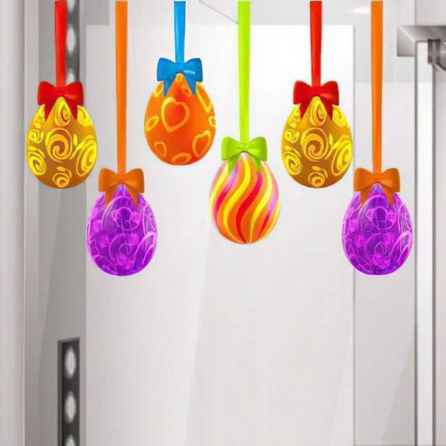 Πασχαλινά αυγά & κορδέλες ,αυτοκόλλητο τοίχου Πασχαλινό