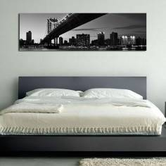 Manhattan Bridge , πανοραμικός πίνακας σε καμβά