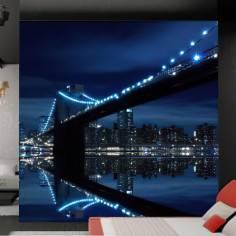 Brooklyn bridge and Manhattan skyline, ταπετσαρία τοίχου φωτογραφική