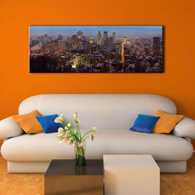 Πίνακας σε καμβά, Montreal panorama, πανοραμικός