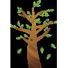Olive tree, αυτοκόλλητο τοίχου, κοντινό