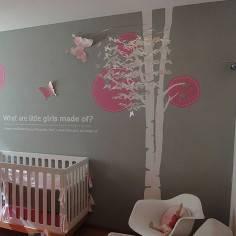 Αυτοκόλλητο τοίχου, δέντρο και πεταλούδες Butterflies tree