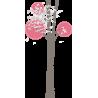 Butterflies tree, αυτοκόλλητο τοίχου, κοντινό
