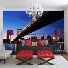 Η γέφυρα του Μανχάταν, ταπετσαρία τοίχου φωτογραφική